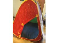 Kids pop up play tent with carry bag