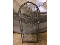 Lovely grey metal wine rack, holds 20 bottles