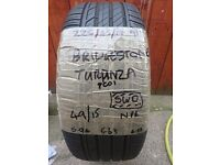 225/45/17 91v Bridgestone Turanza tyre with 6mm tread