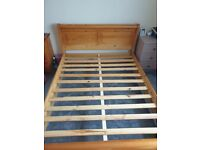 Hard solid wood king size bed