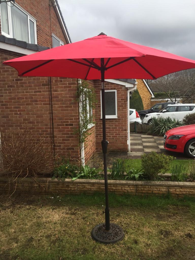 Garden parasol and wrought iron stand | in South Milford, West ...