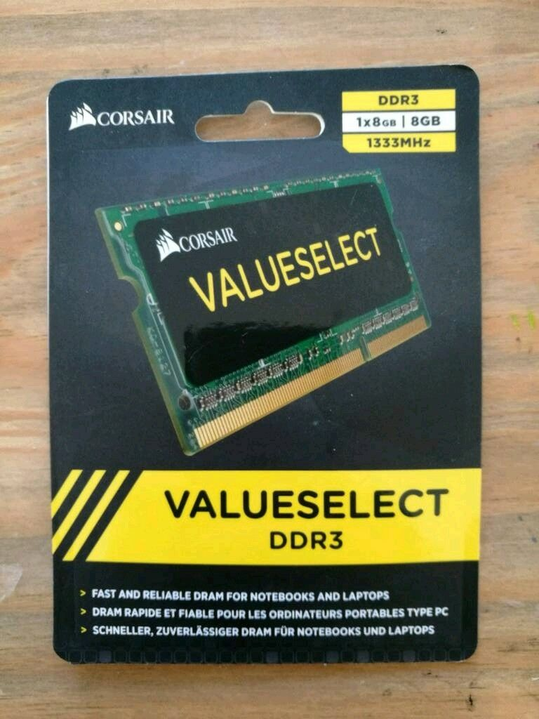 Corsair Ddr3 Sodimm Laptop Ram 8gb New In Package Never Opened Ddr3l 1600 Mhz