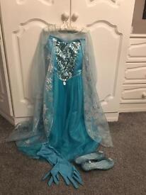 Disney Elsa dressing up costume and shoes