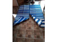 2 Blue and White Rugs