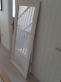 Mirror - white distressed wood