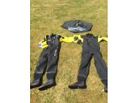 Northern diver dry suits x2
