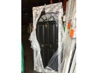 Front door composit black brand new with Coll and keys