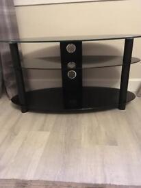 Alphason AR800 Black Oval Glass TV Stand