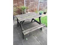 Wooden Garden Picnic Table/Bench **FREE**