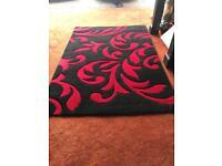 Black & Red Rug