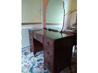 Dressing Table, Mahogany Veneer Bedroom Furniture