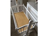 Cradle- quality white wooden