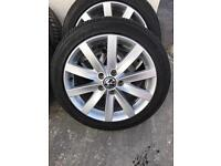 Volkswagen Golf Match Edition alloy wheels and tyres