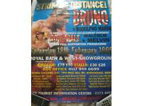 Bruno fight poster