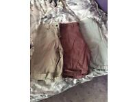 3 x men's shorts size 34