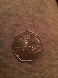 Public libraries 50p coin
