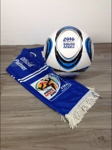 Fifa 2010 World Cup South Africa scarf and soccer ball