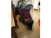 Phil and Teds Red/Black Double Buggy