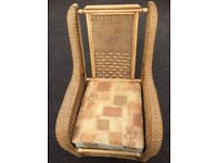 Large Sturdy Whicker Chair for Conservatory or Garden use