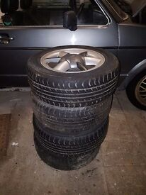 "set of 4 matching renault (clio?) 14"" alloy wheels"