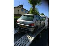 Peugeot 106 quicksilver 1.5 derv spares or repairs