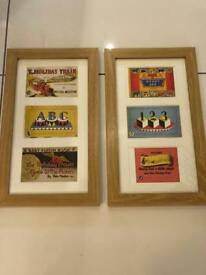 Curated & Framed: Vintage Puffin book covers (postcards) in frame, great for a nursery