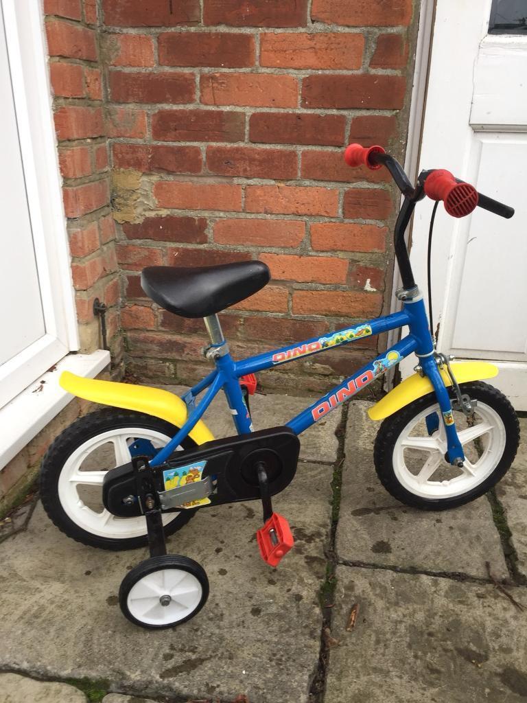 Dino kids bike with stabilisers