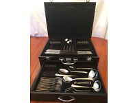 72 piece gold plated boxed cutlery set