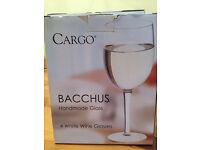 Handmade white wine glass set (4) - Brand new
