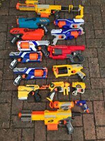 MASSIVE NERF GUN BUNDLE - 15 GUNS PLUS BULLETS - ALL TESTED