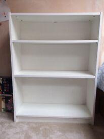 White Ikea billy bookcase, half height