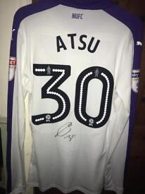 Newcastle United Match Worn Christian Atsu Signed Shirt + COA