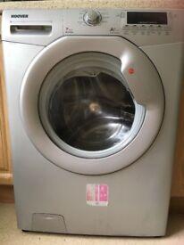 Silver hoover washing machine