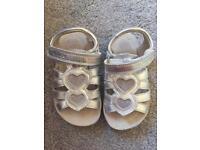 Clark's Silver Sandals - Infant Size 6.5
