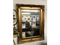 Large gilt gold colour ornate mirror new