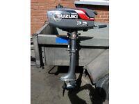 SUZUKI 2.2HP SHORT SHAFT OUTBOARD ENGINE/OUTBOARD ENGINE