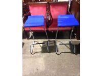 Orangebox - One Pair of Stylish Blue Bar Stools - Breakfast Bar, Home bar