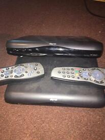 SKY TV Box With Powerlead And Remote