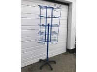 Blue rotating stand size 5ft 3inches