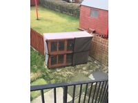 Double level Rabbit hutch with thermo cover