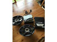 Alpine InCar Audio Set Up Car Stereo Amplifier 6x9s