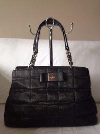 Kate Spade Black Quilted Cotton Handbag