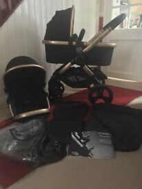 iCandy Peach 3 Black Majic Pram Pushchair with Extras CAN POST