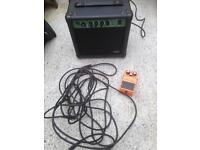 Guitar pedal and leads