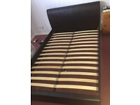 Leather Double Bed Frame, Nearly Brand New
