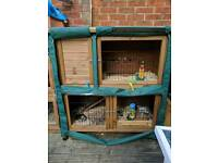 Lazy Bones Rabbit Hutch with Cover
