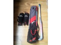 Hockey Beginners Men's or Women's Slazenger Aero 50 Kit Bundle: Stick, Shin Guards and Bag
