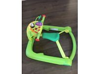 Chicco 3 in 1 walker green - excellent condition - 6mths-3yrs