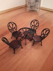 Sylvanian Garden Table and Chairs