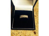 Engagement eternity ring white gold